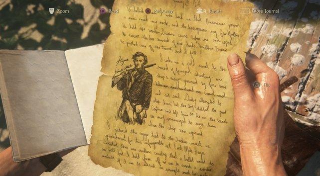 Durch Tagebuchnotizen erhaltet ihr nützliche Informationen.