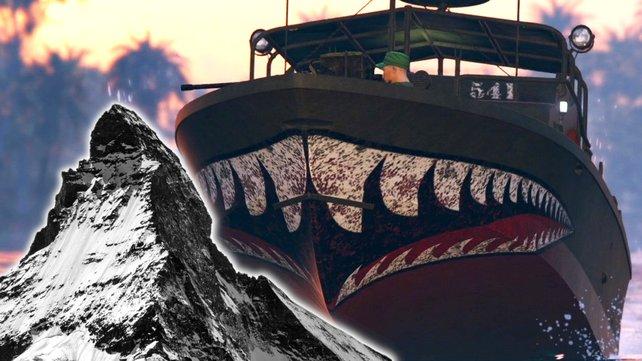 Ein Spieler in GTA 5 macht eine ganz besondere Spritztour – dabei will er mit seinem Boot hoch hinaus.