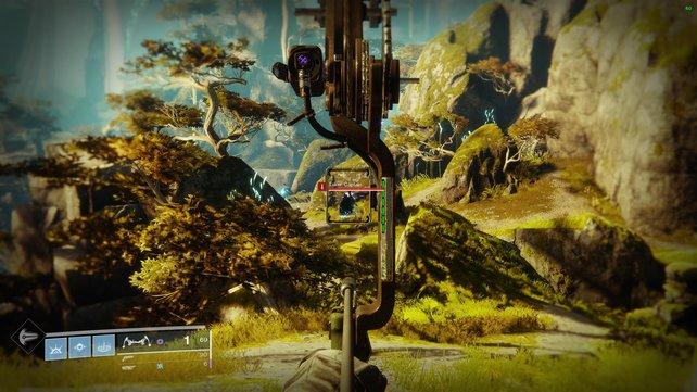 Keine Sorge: Flugkurven müsst ihr mit dem Bogen in Destiny 2 nicht berechnen. Einfaches Zielen reicht.