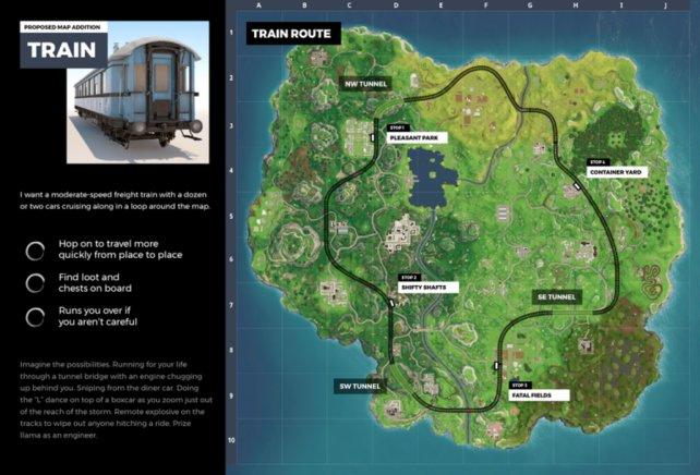 Fährt in Season 5 bald ein Zug über die Fortnite-Map? (Bildquelle: The_Paper auf Reddit)
