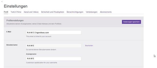 """Über """"Bearbeiten"""" könnt ihr nun euren Twitch-Namen ändern."""