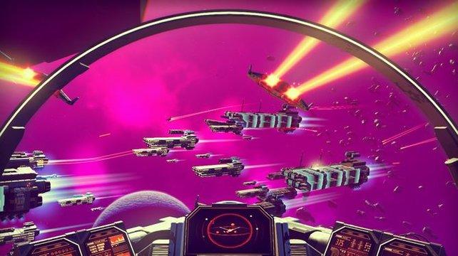 Das Spiel pausiert nicht für Aufladungen und so sitzt ihr oft im Inventar fest, wenn euer Schiff beschossen wird.