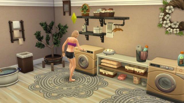 Wenn euer Sim schon in alten Klamotten rumlaufen muss, ist es höchste Zeit zum Wäsche waschen.