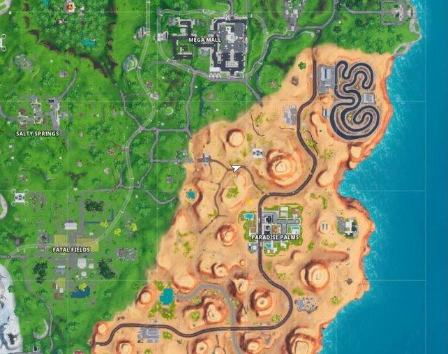 Im Planquadrat H7 und im Südosten der Karte, findet ihr einen weiteren Strandball.