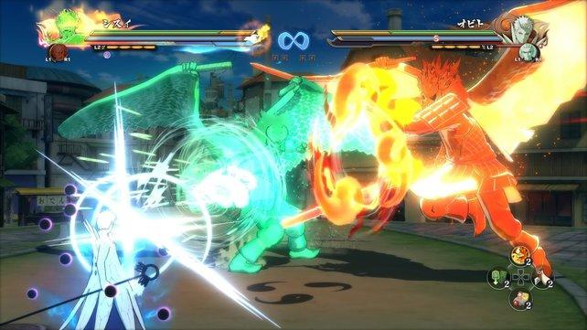 Hier seht ihr die Susanoo-Technik von Shisui Uchiha und Itachi Uchiha, entworfen von Naruto-Schöpfer Masashi Kishimoto. Es gibt sie nur im Spiel.