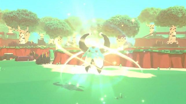 Hier seht ihr die Luma/Shiny-Form des Temtem Ganki. Ihr erkennt seine Luma-Form daran, dass er ganz speziell leuchtet.