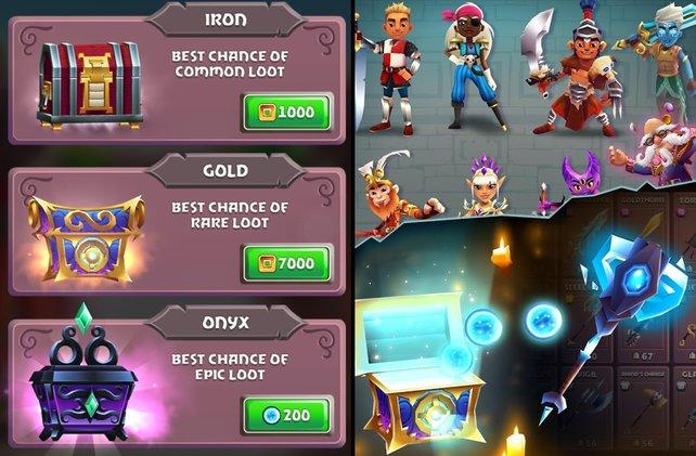 Kostenlose Mobile Games nutzen Truhen häufig als Einnahmequellen. Das hier gezeigte Blades of Brim zählt dabei noch zu den zahmsten Vertretern.