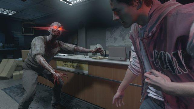 Zombies mit roten Augen sind gefährlich, sie werden direkt vom Mastermind kontrolliert.