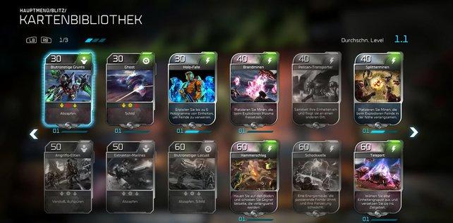 Die Kartenbibliothek von Halo Wars 2 umfasst 94 Karten.
