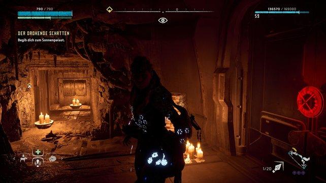 Durch dieses Loch müsst ihr kriechen, um zur Energiezelle im Tempel der Allmutter in Mutters Wacht zu gelangen.