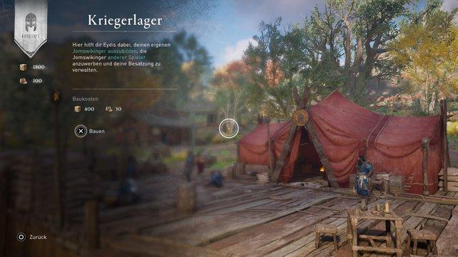 Im Kriegerlager könnt ihr einen Begleiter erstellen.