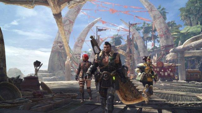 Die Waffen bei Monster Hunter World sehen genauso gefährlich aus, wie sie es auch sind.