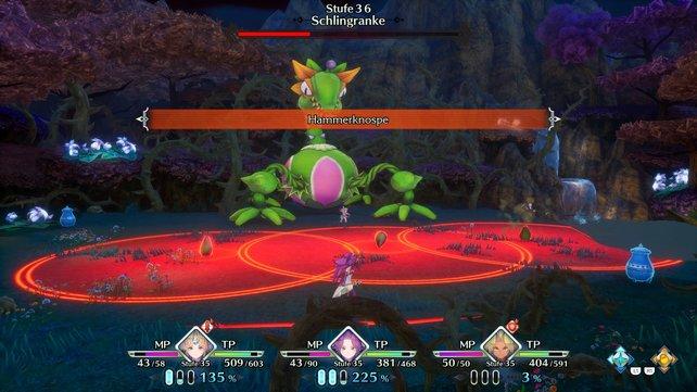 Angriffszonen: Gerade bei Bossen kann dieses Feature über Leben und Tod entscheiden.