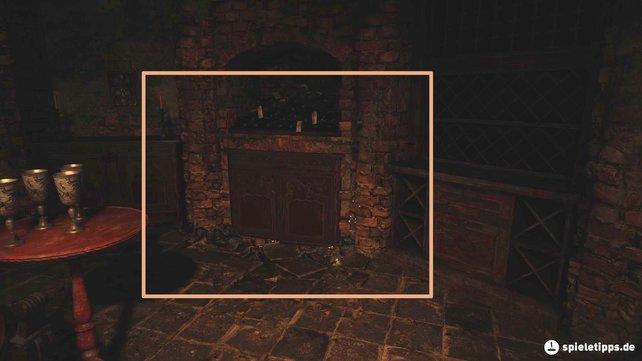 Um den Essensraum im Keller zu verlassen, müsst ihr durch diesen Schrank kriechen.