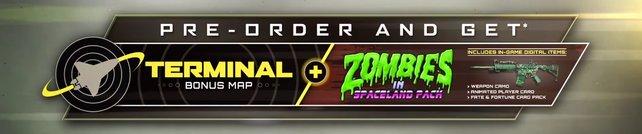 Als Bonus erhalten Vorbesteller die Mehrspieler-Karte Terminal und einige Extras für den Zombie-Modus.