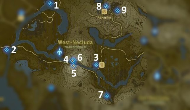 Breath Of The Wild Schreine Karte.Zelda Breath Of The Wild Schreine Turm Der Zwillingsberge Mit