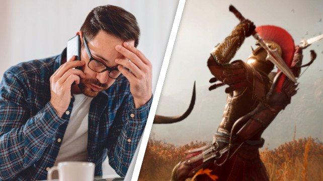 Arbeit oder Vergnügen? Für Gamer muss letzteres oft zu kurz kommen. Bildquelle: Getty Images / Kerkez, Ubisoft / Assassin's Creed: Odyssey