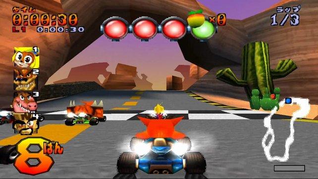 Crash Team Racing hat für heutige Verhältnisse zwar eine Hieroglyphen-Grafik, aber der Spaß bleibt unsterblich.