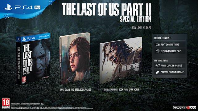 Die digitalen Inhalte der Special Edition von The Last of Us 2 sind auch in der Digital Deluxe Edition enthalten.