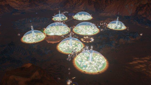 Eine florierende Siedlung auf dem Mars könnte so aussehen.