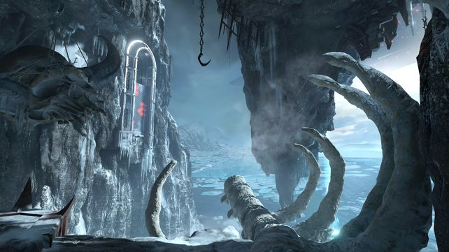 In den ausladenden Arenen von Doom Eternal gibt es viel zu entdecken.