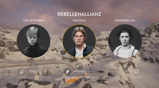 Han Solo ist einer der spielbaren Helden auf Rebellenseite