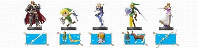 Das Bild zeigt euch eine Auswahl der Smash-Amiibo und ihre Belohnungen.