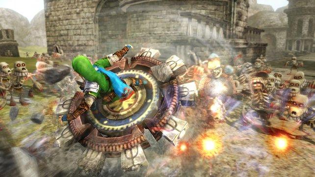 In Hyrule Warriors erhält Link diese durchschlagende Extrawaffe mittels passendem Amiibo.