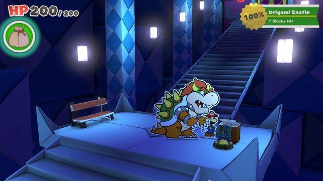 Den letzten Schatz-Mini im Schloss findet ihr kurz vor der Endbosstür.