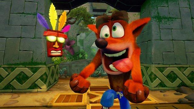Auch auf PS4 ist Crash so verrückt wie eh und je.