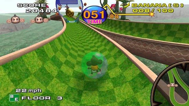 Ein Startspiel des Gamecubes ist Super Monkey Ball von Sega. Der einstige Feind hat sich entschlossen, nur noch Spiele und keine Konsolen mehr zu entwickeln - Spiele auch für Nintendo.