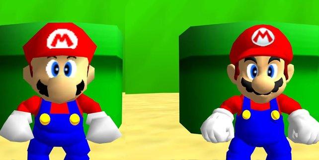 Der italienische Klempner wirkt im PC-Port von Super Mario 64 deutlich moderner.