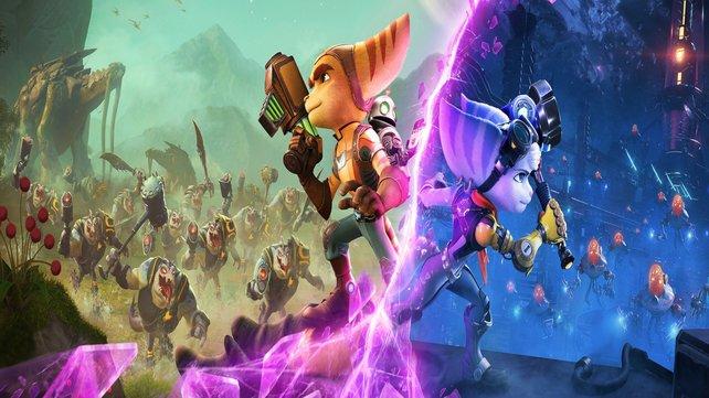 Ratchet, Clank und die noch recht mysteriöse Rivet müssen im nächsten Abenteuer zusammenkämpfen.