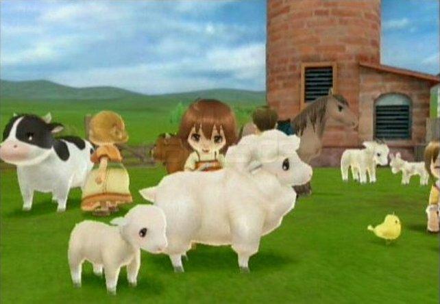 Es ist offenbar die Epoche der Possessivpronomen in Spieletiteln. Meinem Inselparadies folgt Deine Tierparade. Das Wii-Spiel orientiert sich inhaltlich allerdings am Baum der Stille. In Harvest Moon gibt es inzwischen so viele Nutztiere, dass Käse-, Mayo-, Garn- und Melkmaschine ordentlich zu tun haben.