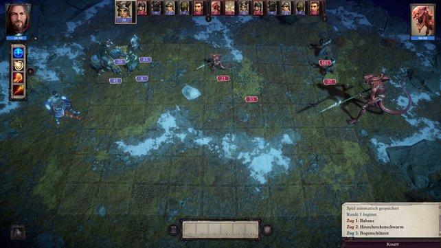 Führt eure Armeen in rundenbasierten Kämpfen gegen Dämonen in die Schlacht.