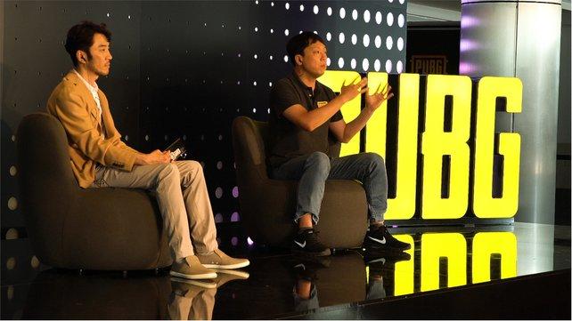 Changhan Kim und Junghyun Kwon auf der Pressekonferenz. Bild: Steve Bülow.
