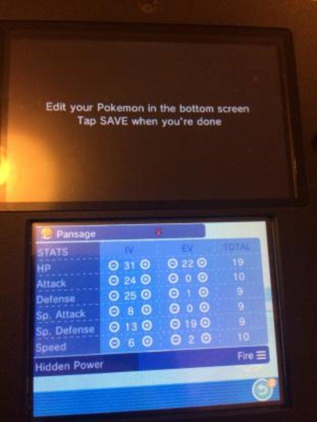 Hier seht ihr ein Programm, mit dem ihr Pokémon ändern könnt. Quelle: Eurogamer