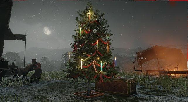 Schnee und Tannenbaum: In Red Dead Redemption 2 wird es festlich.
