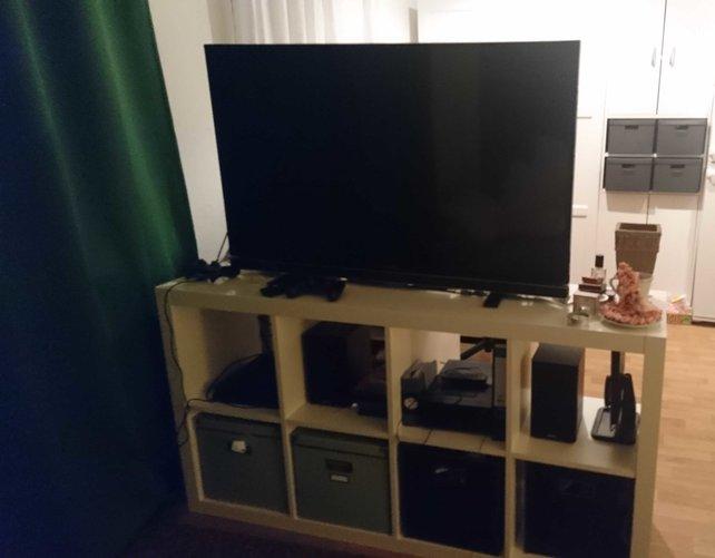 Mein Fernseher muss so einiges einstecken.