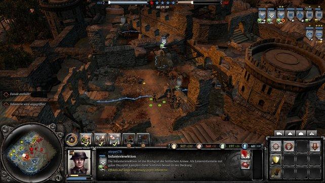 """Auf der Karte """"Angriff auf Lorch"""" liegt eine Siegmarke in einer Burgruine. Diese ist nur mit Soldaten erreichbar."""