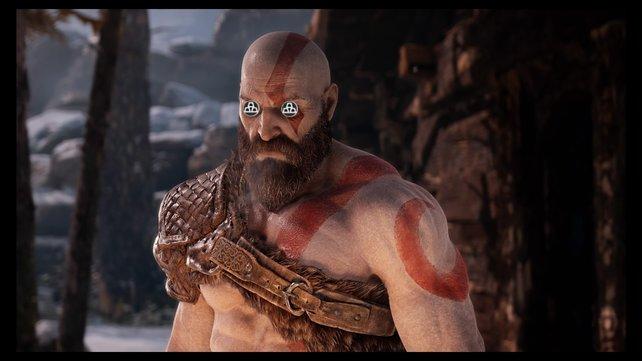 Bei God of War für die PS4 hat Kratos nur noch Augen für Hacksilber