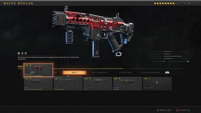 Seit kurzem neu im Spiel: Die Signaturwaffen wie die MX9 Patriot.