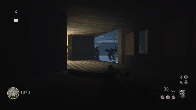 Wo sind wir denn hier gelandet? Mithilfe unserer Glitches verschafft ihr euch auch Zugang zu unerreichbaren Räumen im Zombie-Modus von Call of Duty - WW2.