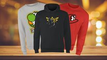 Nintendo-Sweatshirts & Hoodies mit Yoshi, Mario, Zelda & Co. exklusiv im Angebot