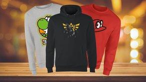 Original Nintendo-Sweatshirts & Hoodies mit Yoshi, Mario, Zelda und Co. exklusiv im Angebot
