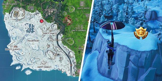 Die Karte zeigt euch die Lösung der Challenge in der Blockbuster-Woche von Fortnite.