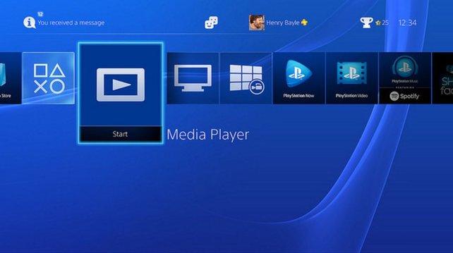Der Media Player auf der PS4 spielt zahlreiche Formate ab.
