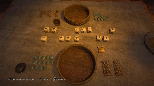 In der Auflösungenphase wird das Ergebnis der Spieler verglichen.