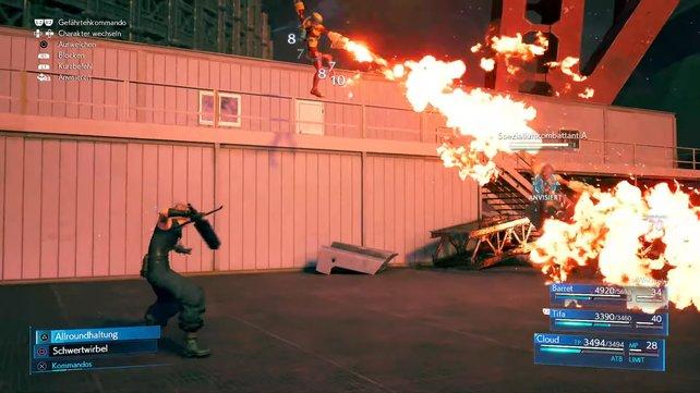 Die Spezialluftkombattanten greifen euch zwar mit Gas- und Flammenwerfern an, sind allerdings selbst gegen Feuerangriffe extrem anfällig.