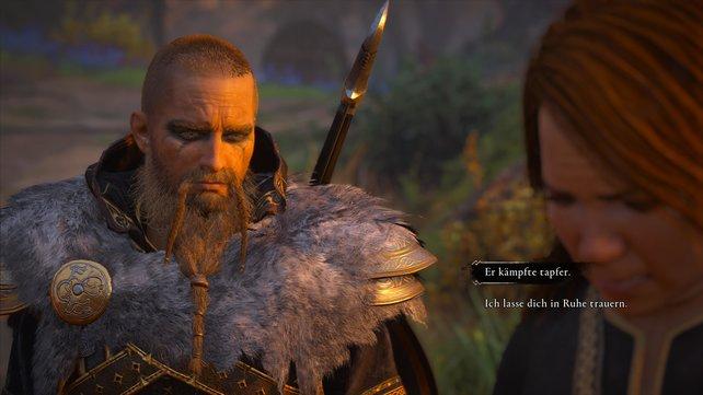 Sagt ihr Svanhild, dass Hunwald tapfer gekämpft hat, dann tröstet sie der Umstand, dass er doch als Held starb.
